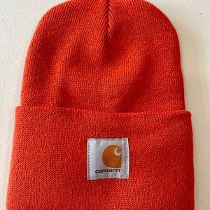 Knit Cuffed Beanie+Carhartt+Jasper+Orange
